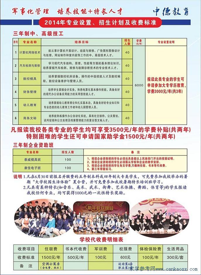 2014年广东省技师学院东莞分校招生简章