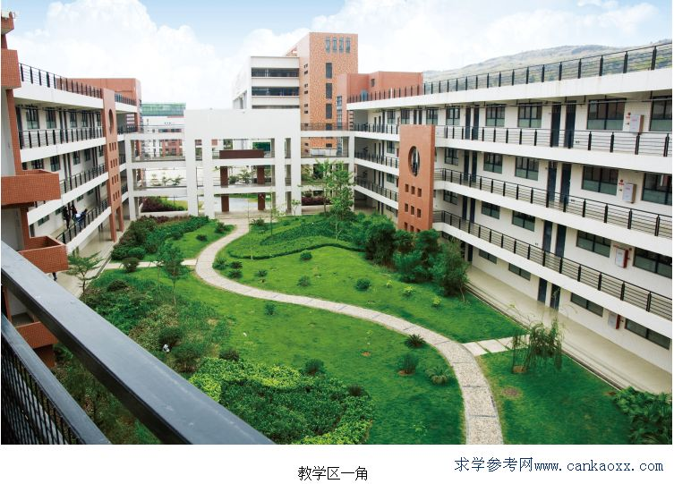 韶關市技師學院優美的學校風景
