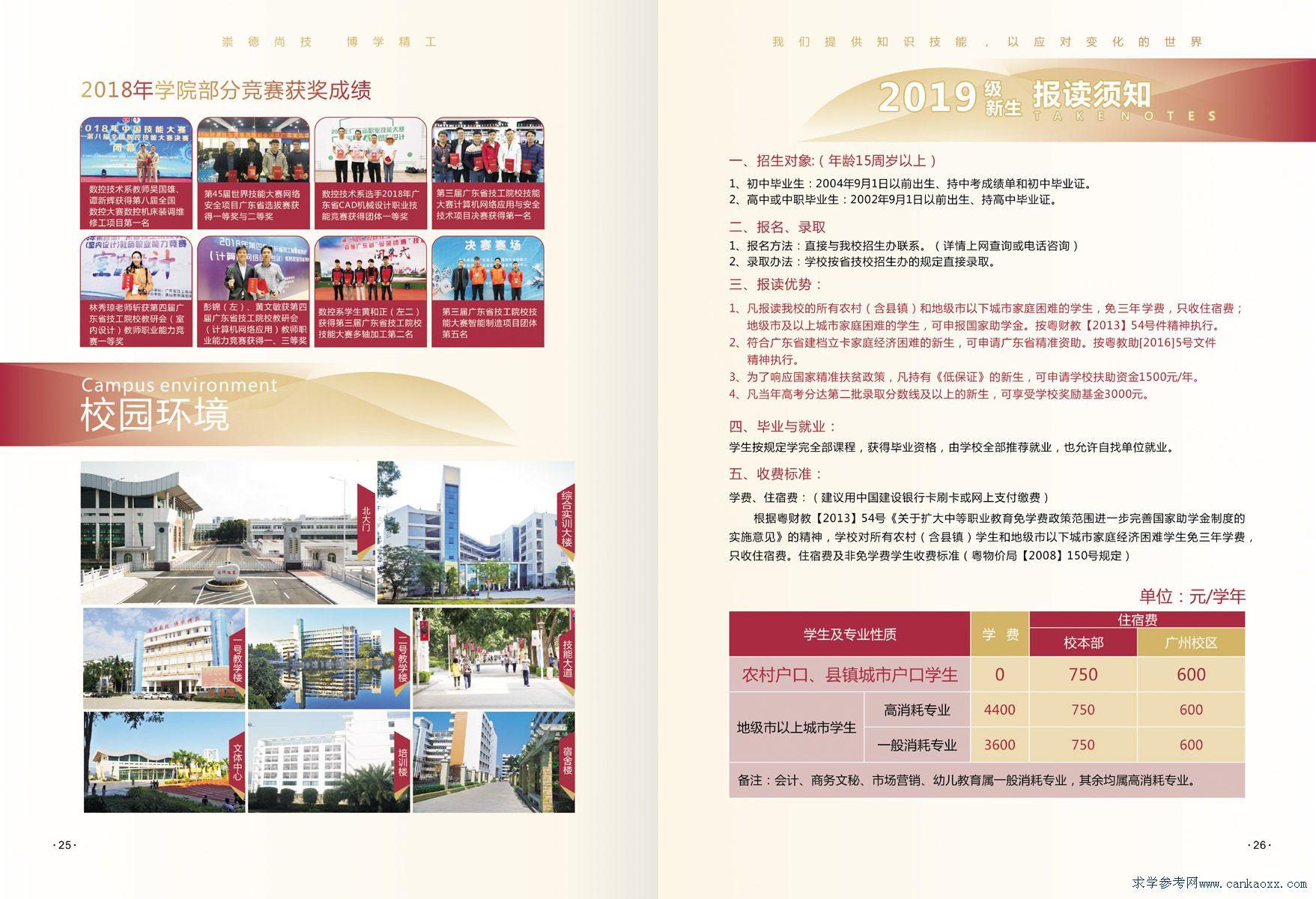 2019年广东省技师学院招生简章(图)(16)